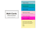 Math Cards: Whole Numbers